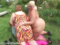 Dirty obese women in bikini..