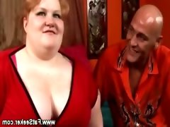 Ginger bbw slut gets picked..