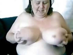 Super busty granny jane live..