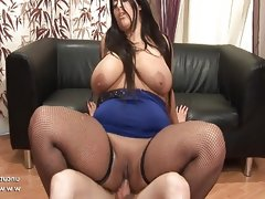 Bbw french brunette banged..