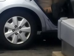 Fat ass at car wash