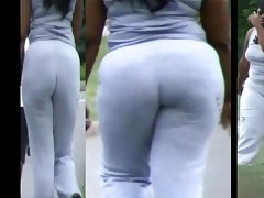 Thick eb powerwalking ass..