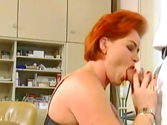 Redhead kira red fucks with..