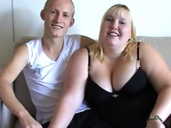 Very fat blonde was fucked..