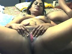 Amateur scene with indian..