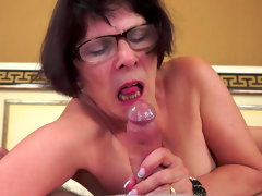 Dark-haired granny love to..
