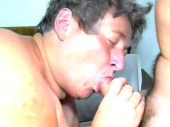 Granny gives blowjob and..
