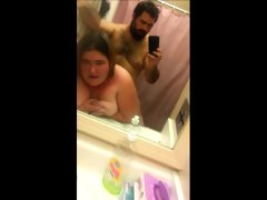 Amateur fattie rammed in the..
